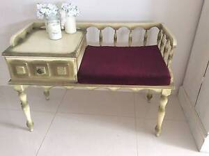 VINTAGE SHABBY CHIC  TELEPHONE SEAT AND TABLE Camden Area Preview