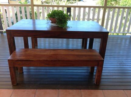 Indoor Outdoor Dining Table With Bench Seats