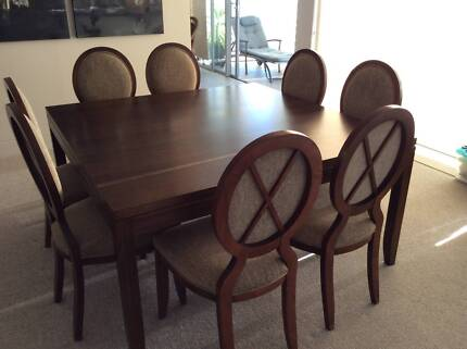 Solid Timber Dining Table Chairs Buffet