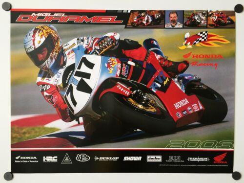 Vintage Poster 2003 Honda Racing RC51 Superbike Miguel DuHamel HRC