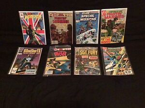 Eight assorted comic books