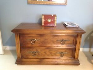 Armoire,2 night tables and chest.  Wood.
