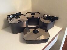 Stacking Teflon Coated Pots and Frying Pan Greenslopes Brisbane South West Preview