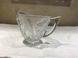Antique clear glass creamer