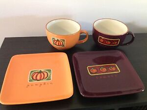 Soup Bowls/Mugs & Matching Plates Eastwood Ryde Area Preview
