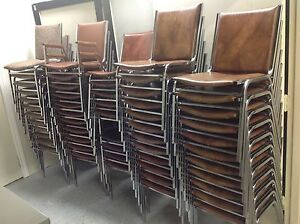 Stackable padded chrome metal frame Chairs