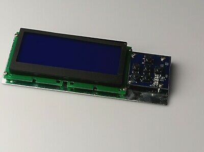 192 X64 Graphic Display Lcd Module Spi Serial Gray On Blue 5 Button 2 Led Pcb