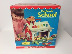 Fisher Price vintage Little People Play Family School in box
