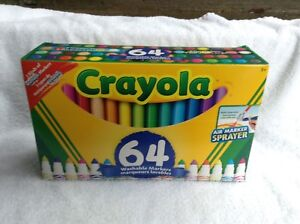 64 Pack of Crayola Washable Markers, 3 types