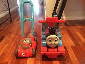 Thomas Ride On and Larry The Lawn Mower Blackburn South Whitehorse Area Preview