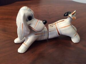 Vintage Dachshund (with fly on tail) Salt and Pepper shakers