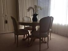 Walnut dining table and four chairs. Dalkeith Nedlands Area Preview