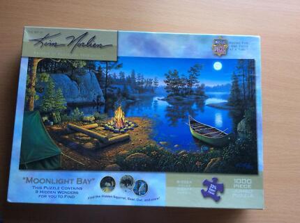Kim Norlien 1000 piece jigsaw puzzle. Moonlight bay.