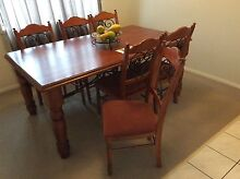 Dinning table and 6 chairs with buffet and shelving hutch Boronia Heights Logan Area Preview