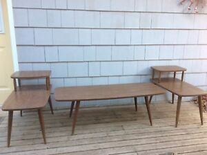 Vintage coffee and end tables