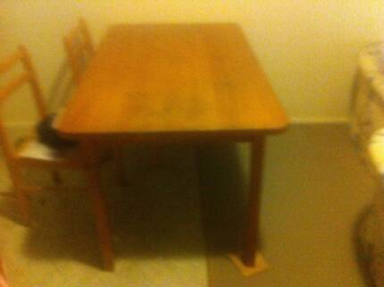 Solid Timber Dining Table & Chairs