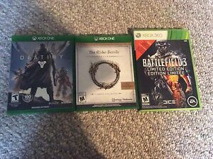 Xbox360 and Xbox one games for sale