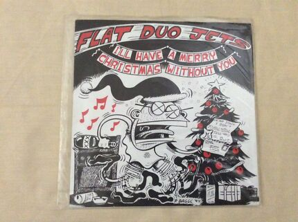 "Flat Duo Jets I'll have a merry Christmas without you 7"" green vinyl"