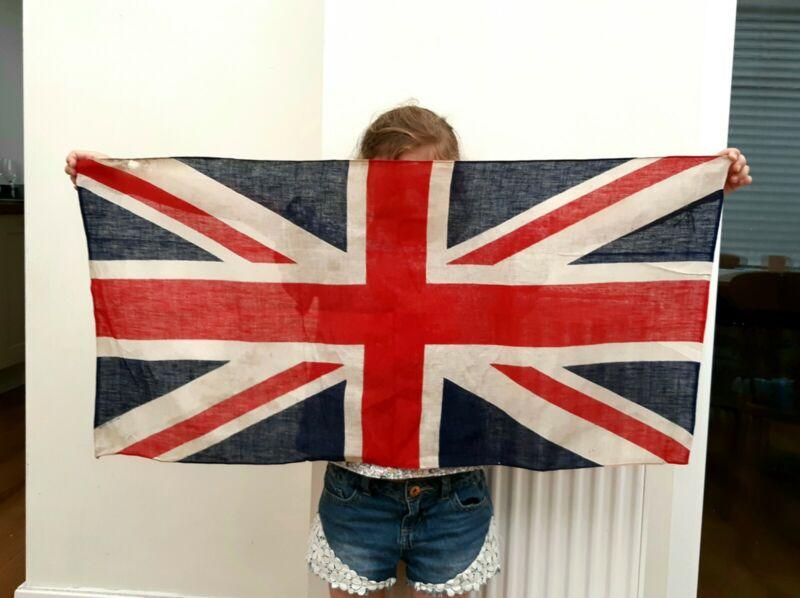 Large Original WW2 Cotton / Linen Soldiers Union Jack Kit Bag Flag British Made