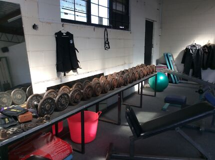 Dumbbells and large bench Mona Vale Pittwater Area Preview