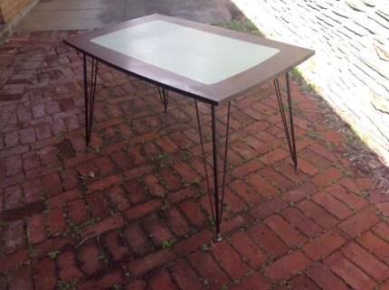 retro 1950s kitchen dining table chrome laminex dining tables