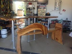 HANDCRAFTED BAR TABLE, STOOLS AND BENCH SEAT Varsity Lakes Gold Coast South Preview