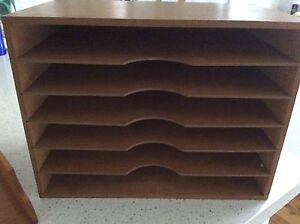 Retro paper sorter/storage shelf unit and Intray Bardwell Valley Rockdale Area Preview