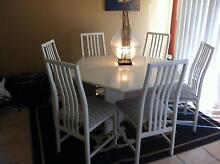 Hexagonal dining table and 6 chairs Ashmore Gold Coast City Preview