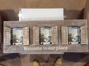 Wooden Welcome Picture Frame