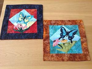 Handmade Patchwork Embroidered Butterfly Cushion Covers Canada Bay Canada Bay Area Preview
