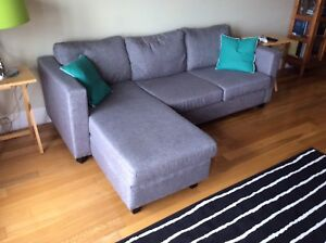 Couch with lounger