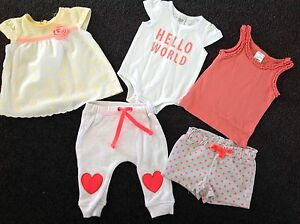 ASSORTED TRENDY BABY GEAR WITH FLOURO.    Size 0-3 mths Oxenford Gold Coast North Preview