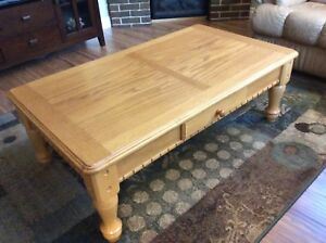 Moving sale! Like-new 4 piece solid oak coffee/end/sofa table