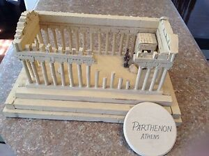 Exact Replica of  Paratheon  Athens   Made of wood carving