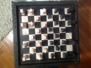 Chess set made from Onyx
