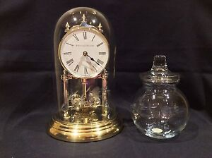Princess House clock and candy dish