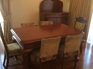 Jarrah Dinning Suite and Sideboard Wembley Downs Stirling Area Preview