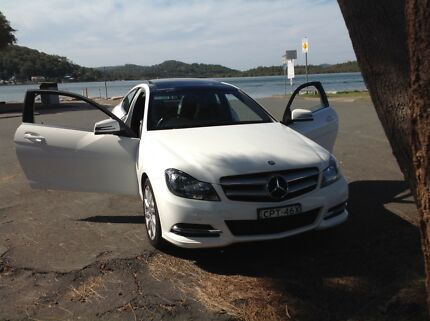 MERCEDES COUPE C180 WHITE BLACK SUNROOF. IMPECCABLE CONDITION Woy Woy Gosford Area Preview