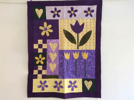 Purple and Yellow Flower Quilt Kentish Area Preview
