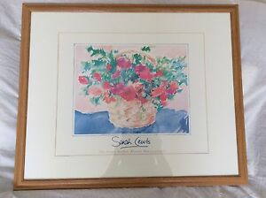 Sarsh cewts painting The poppy basket Recent water colour