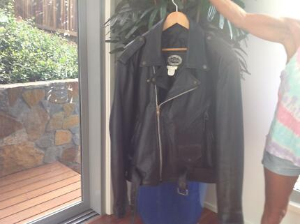Men Leather Motorcycle Jacket