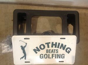 Nothing Beats Golfing License Plate with Mounting Bracket