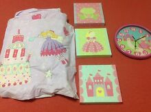girls bedding - princess, fairy. doona, clock, canvases, washers Kensington Grove Lockyer Valley Preview