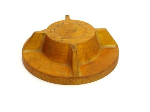 SMALL ROUND WOOD FOUNDRY CASTING PATTERN MOLD INDUSTRIAL SCULPTURE ART