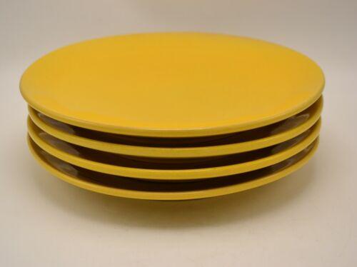 Set of 4 Vintage Frankoma 6F Yellow Dinner Plates