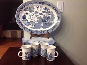 4 Willow Mugs