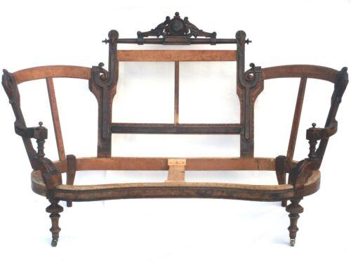 Antique Renaissance Revival Sofa Unupholstered