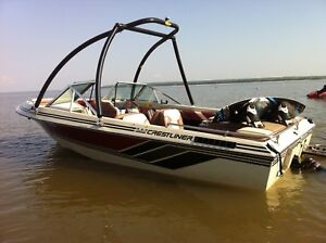 18 foot Inboard/outboard with wakeboard tower!