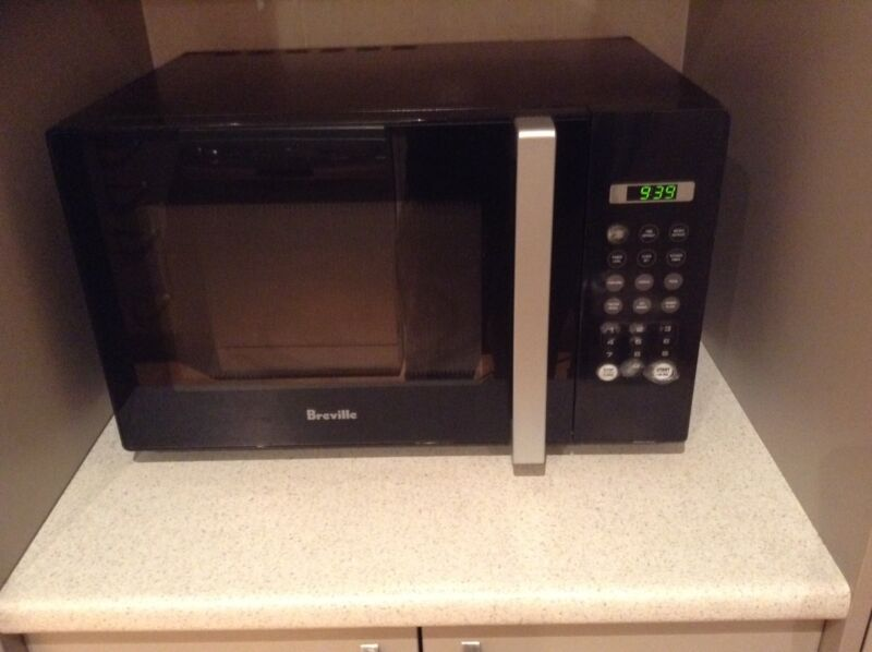 Thanks For The Report We Ll Review This Ad Black Breville Microwave