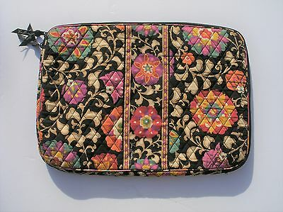 Vera Bradley Suzani Design Colorful Floral Padded Laptop Sleeve Pre-Owned